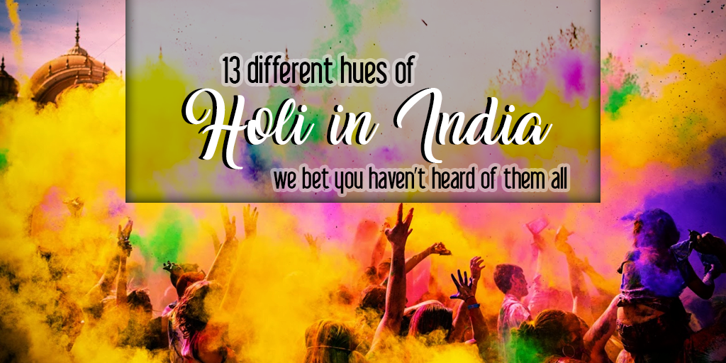 Different hues of holi