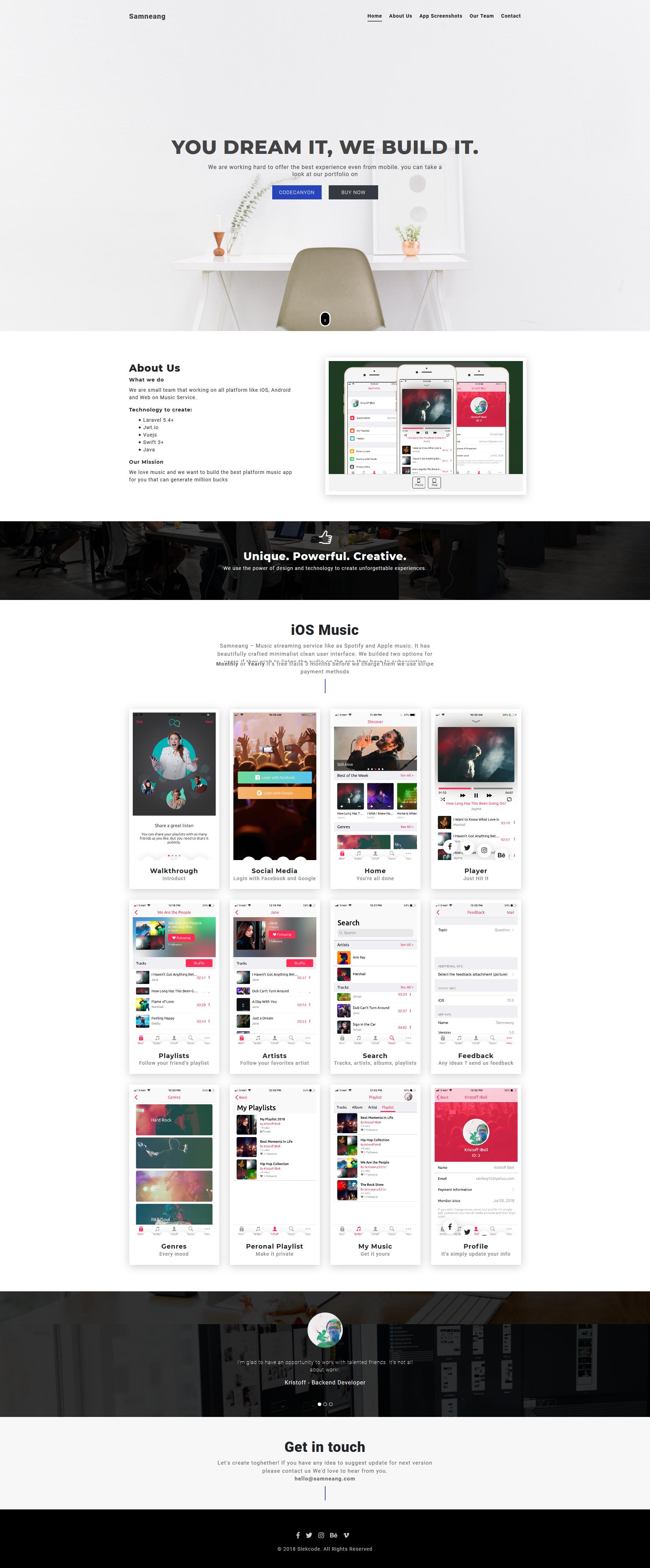 Image demo screen