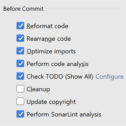 IntelliJ Before Commit