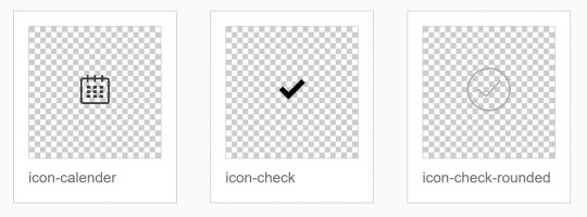 Icon IDs HTML page SVGs