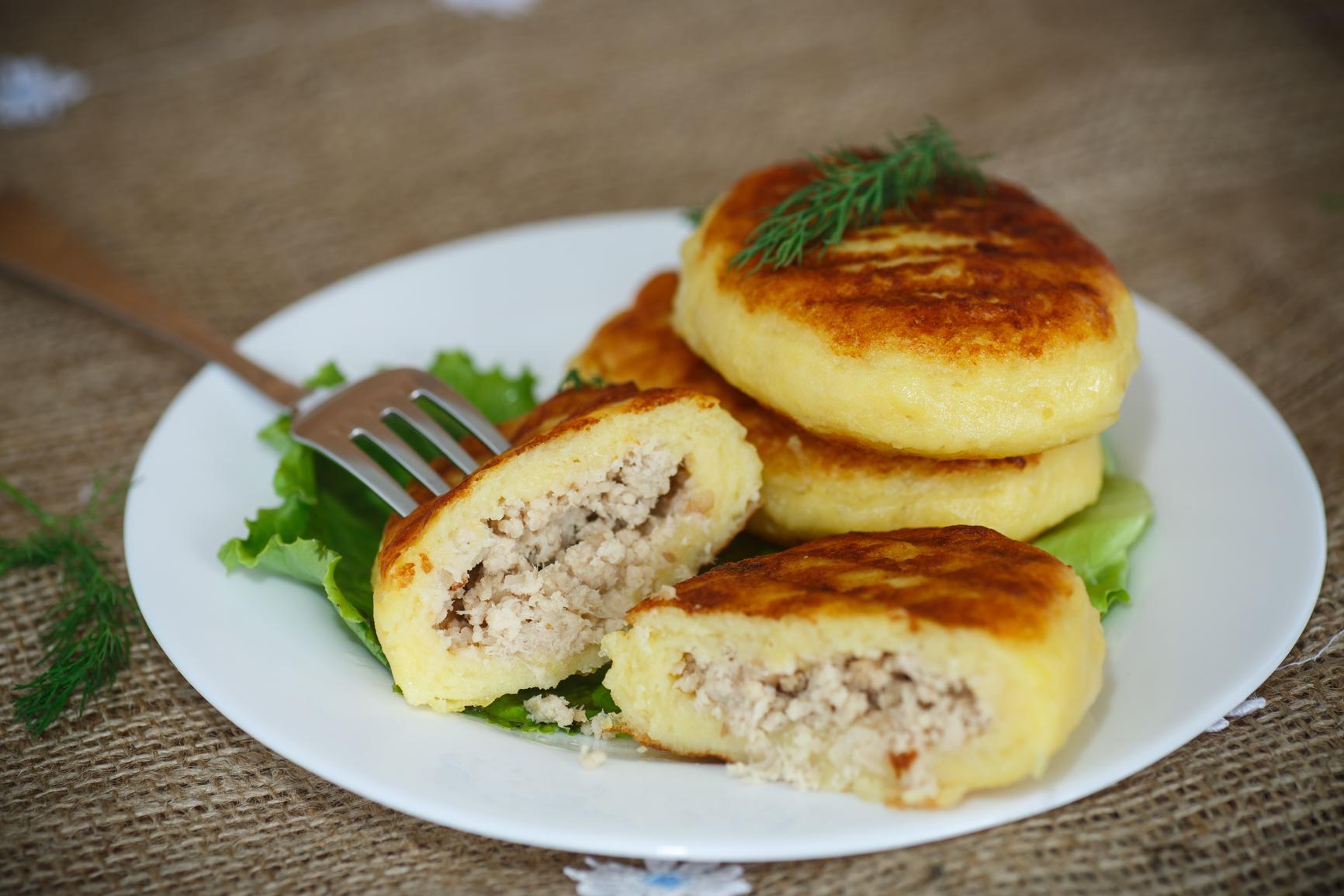 Рецепт приготовления зразы картофельные с фаршем