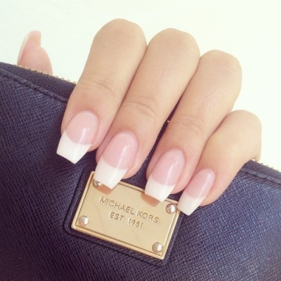 French tip acrylic nails tumblr