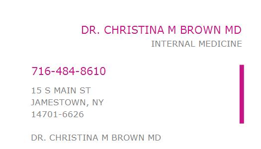 Dr christina brown jamestown ny