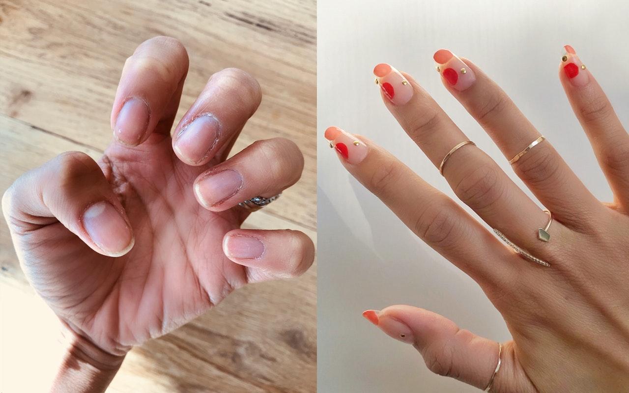 Gel finger nails