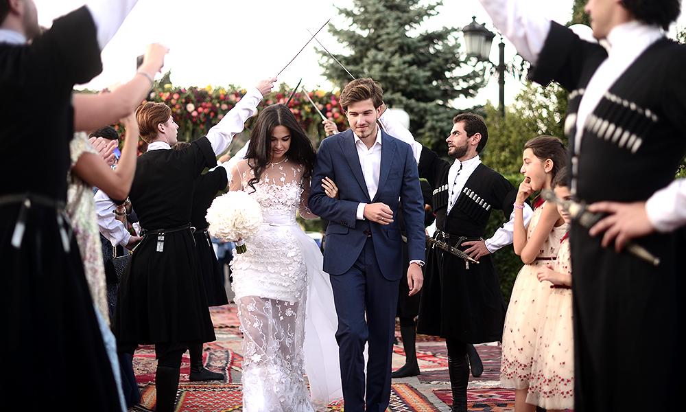 Свадьба Сарины Турецкой и Торнике Церцвадзе в Грузии