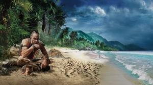 Превью обои far cry 3, пляж, игра, графика, hdr