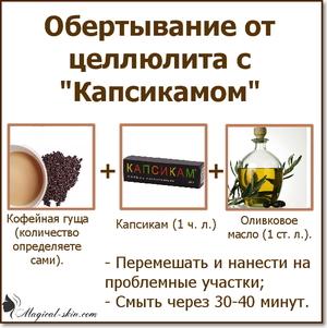 Обертывание с кофеином и капсикамом