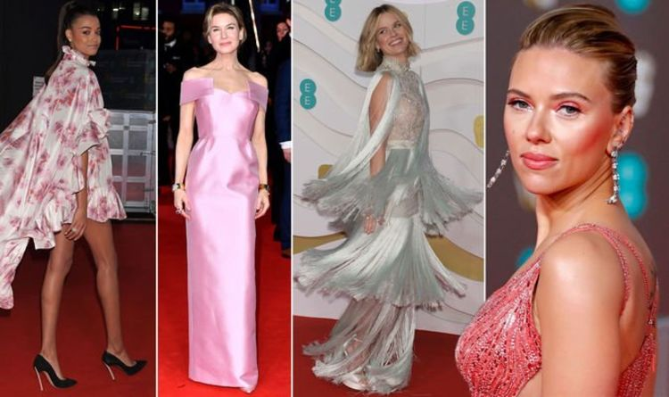 Pictures of celebrities on the red carpet