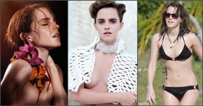 Emma watson wear a bra