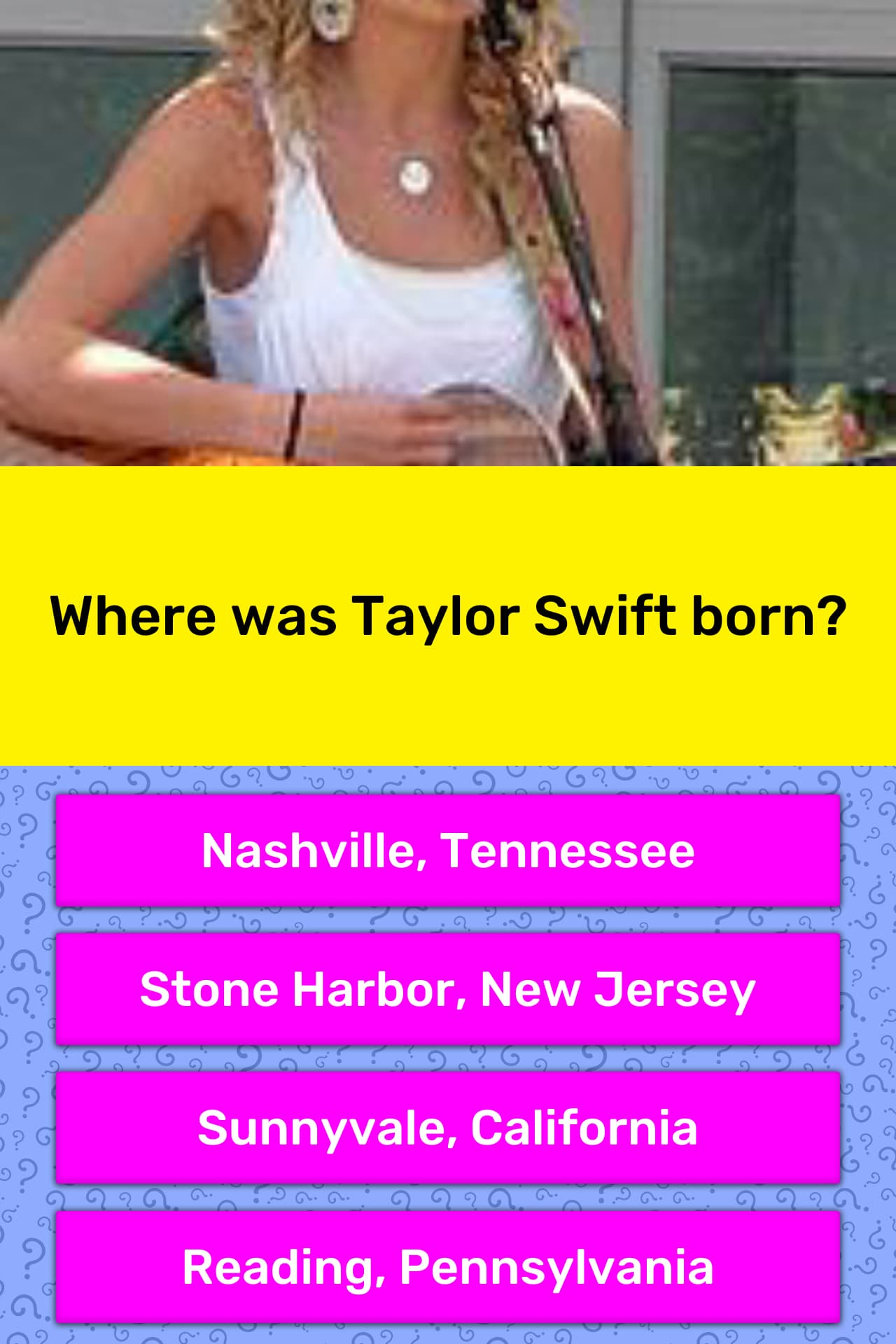 Where taylor swift was born