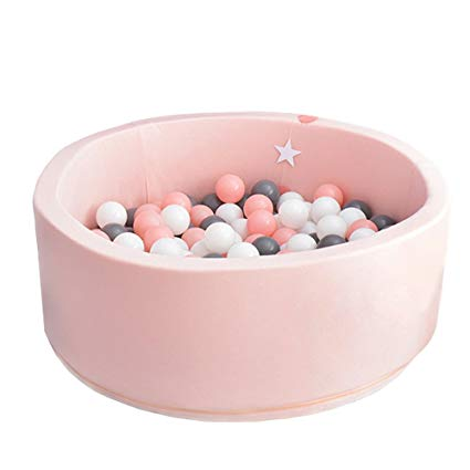 Pink ball pit for babies