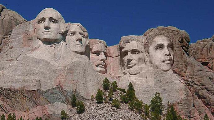Barack obama on mount rushmore