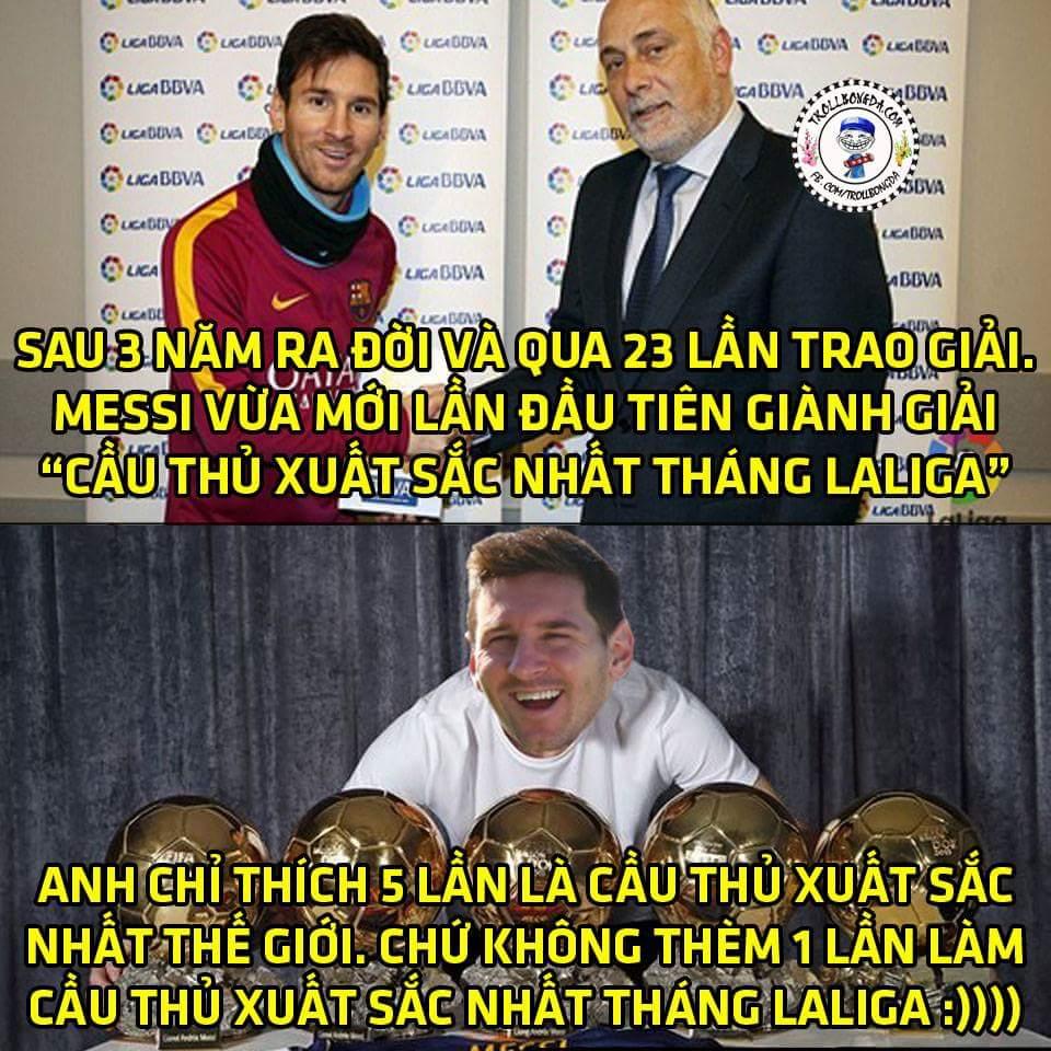 Messi lại bổ sung vào bộ sưu tập của mình 1 danh hiệu nho nhỏ.