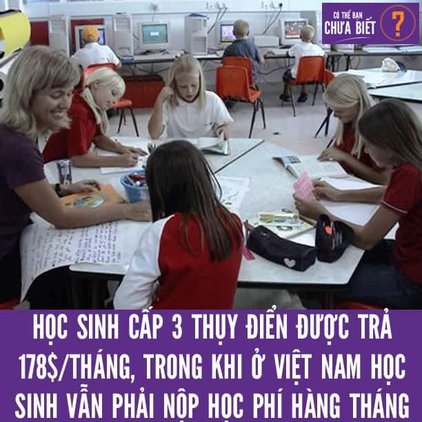 Thụy Điển trả cho học sinh 187 đô la một tháng để đến trường. Học sinh sẽ có đủ điều kiện để...