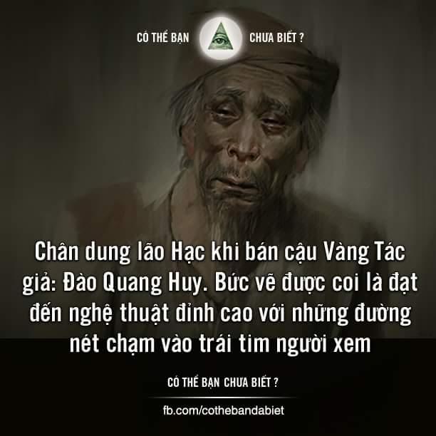 Chân dung lão Hạc khi bán cậu Vàng Tác giả: Đào Quang Huy. Bức vẽ được coi là đạt đến nghệ...
