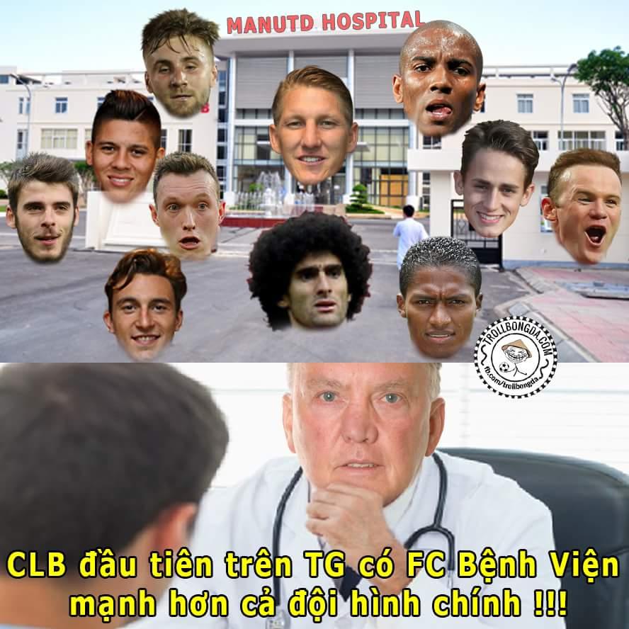 FC Bệnh Viện của M.U đủ vô địch Champions League ý nhỉ =))