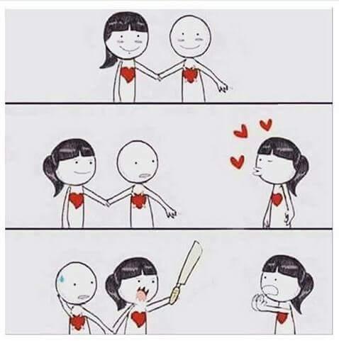Khi con gái giữ người yêu. :D