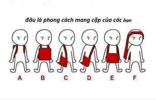 Bạn mang cặp theo phong cách nào ?   AD : Vua Mạng