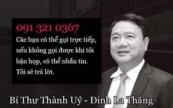 Mong các bạn ở Sài Gòn share số điện thoại của ông Đinh La Thăng, để mọi người được biết. Khi...