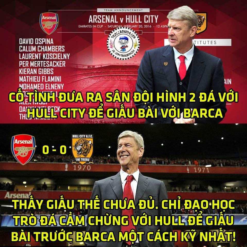 Arsenal vừa có trận hòa 0-0 với Hull City cách đây ít phút :3 chắc là không muốn lộ bài trước...