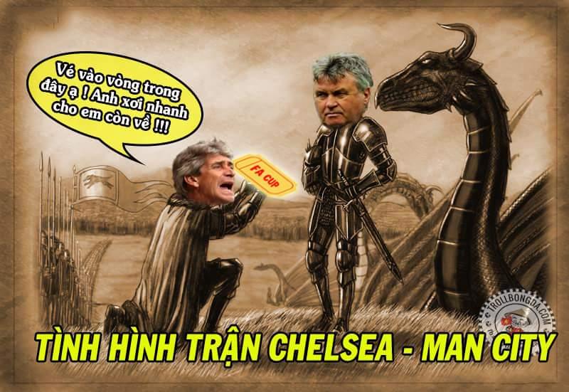 Tỷ số đang là 4-1 cho Chelsea. Nhìn cái đội hình đủ hiểu.