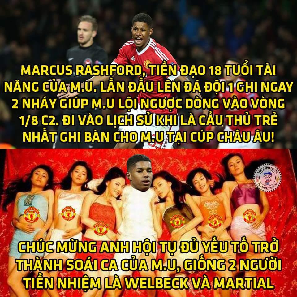 Marcus Rashford...thần tượng mới của fan M.U đây rồi.