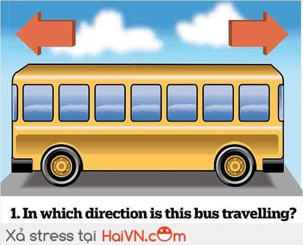Chiếc xe buýt này đang đi từ hướng
