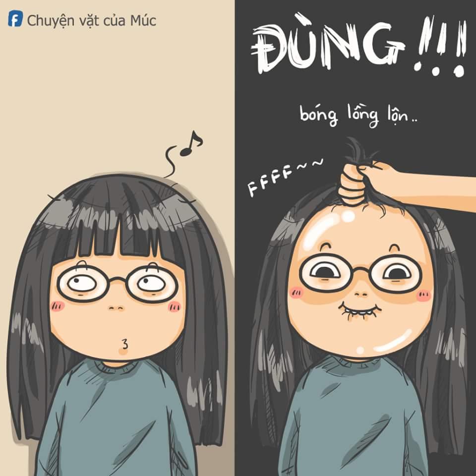 Đó là lý do con gái nên để tóc mái. :3