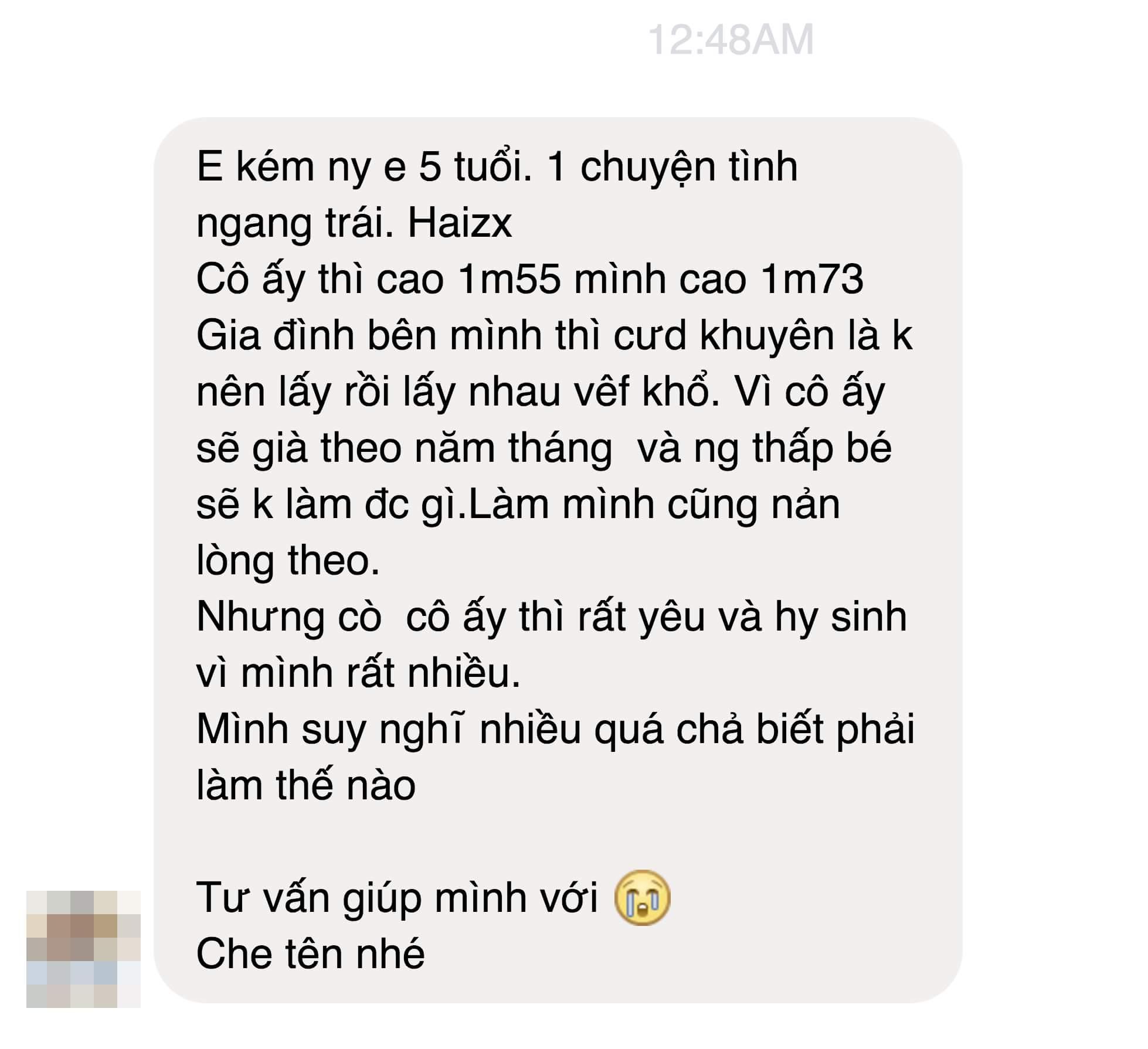 Gái 1m55, trai 1m73 mà bị gia đình cấm cản? :(   #nghiemtucvl