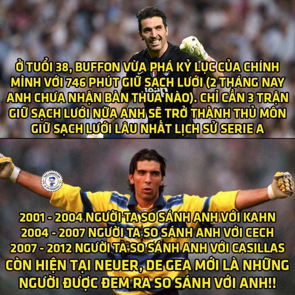 Gianluigi Buffon - Gừng càng già càng cay. Thật không hổ danh là thủ môn đắt giá nhất thế...