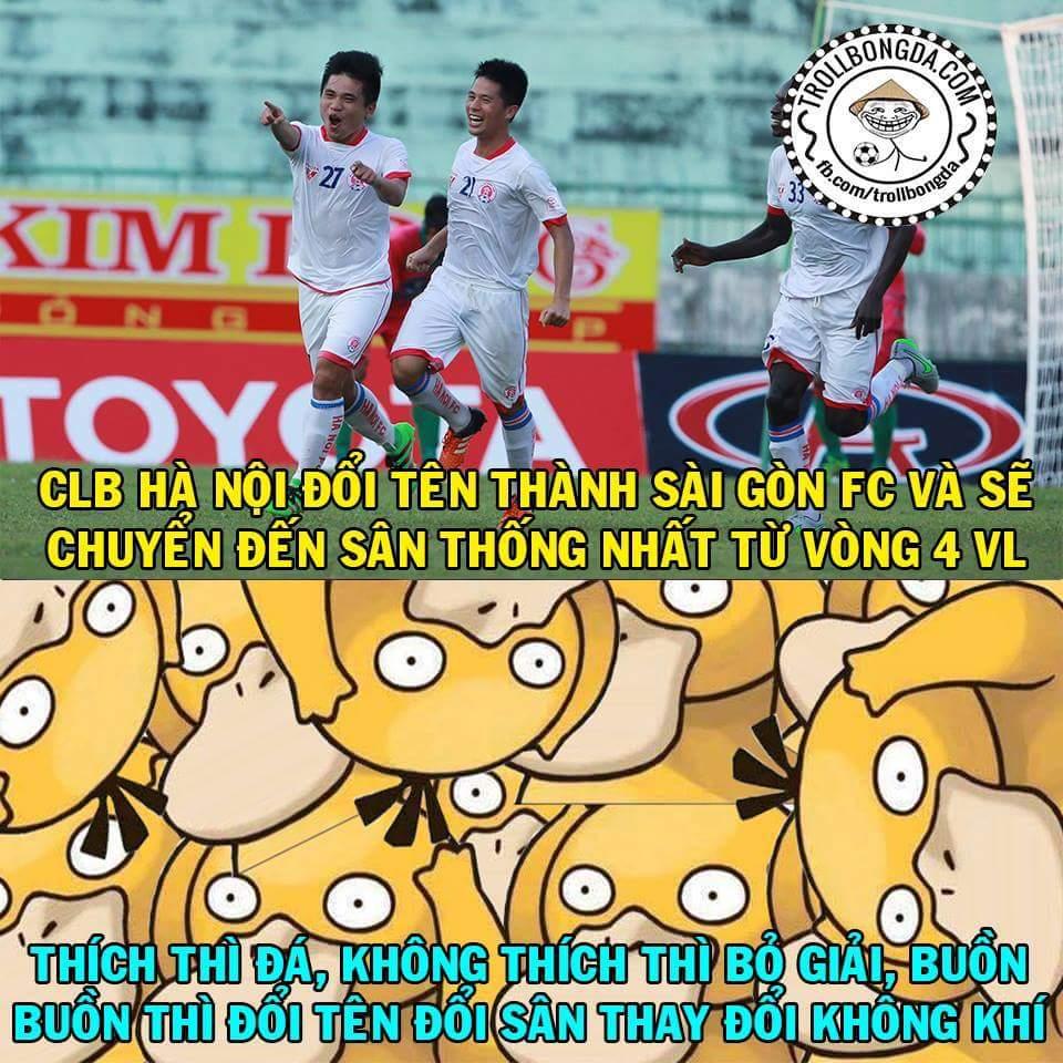 Quỳ, quỳ thật rồi ...  Vòng 3: CLB Hà Nội Vòng 4: Sài Gòn FC Dự là Vòng 5: Đà Nẵng...