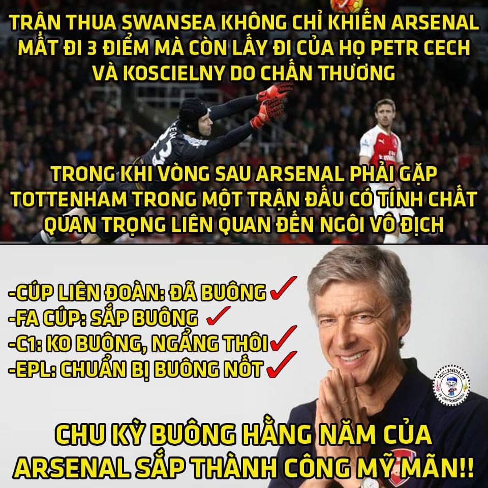 Bạn cười Arsenal vì họ thua...Arsenal cười lại bạn vì bạn không biết kế hoạch của họ....