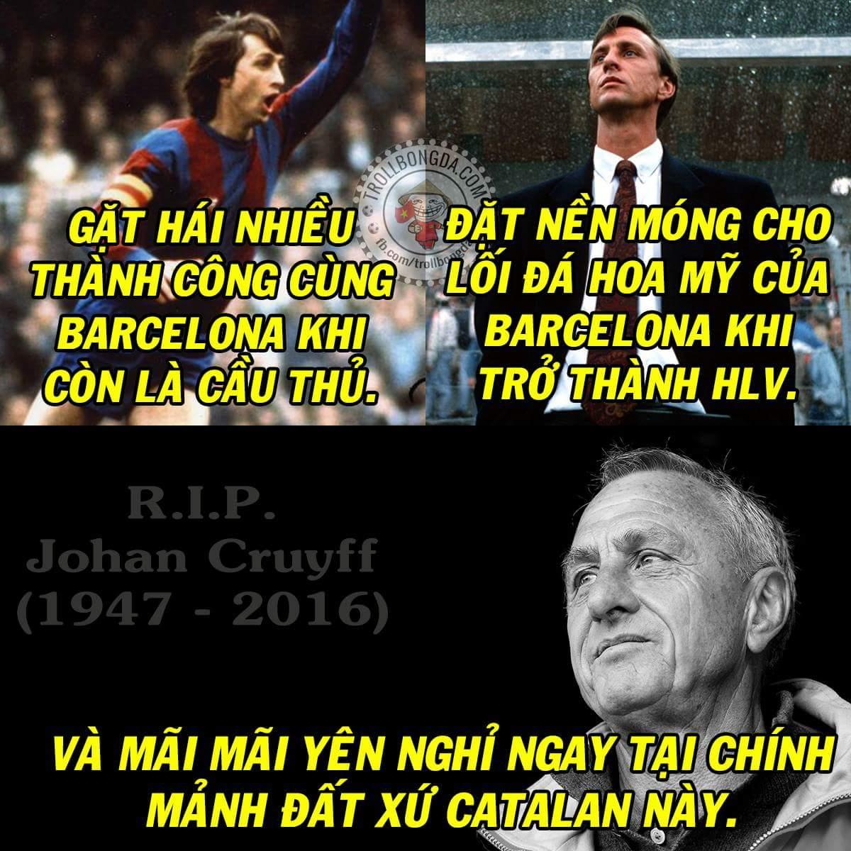 Huyền thoại bóng đá Johan Cruyff đã qua đời ở tuổi 68 vì ung thư. Vĩnh biệt Thánh Johan -...