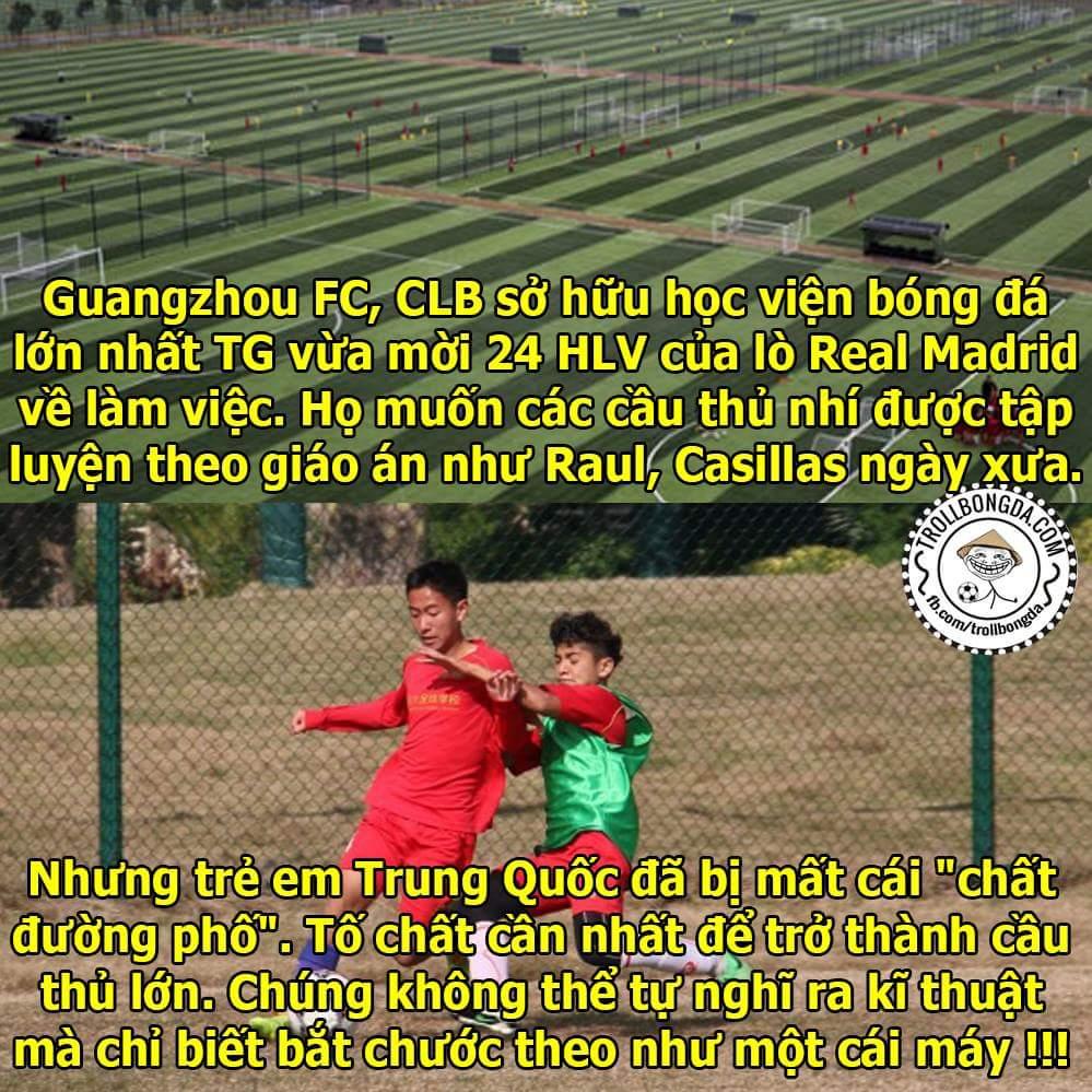 Thực trạng hiện nay tại Trung Quốc, các chuyên gia của Real Madrid cũng bó tay rồi....