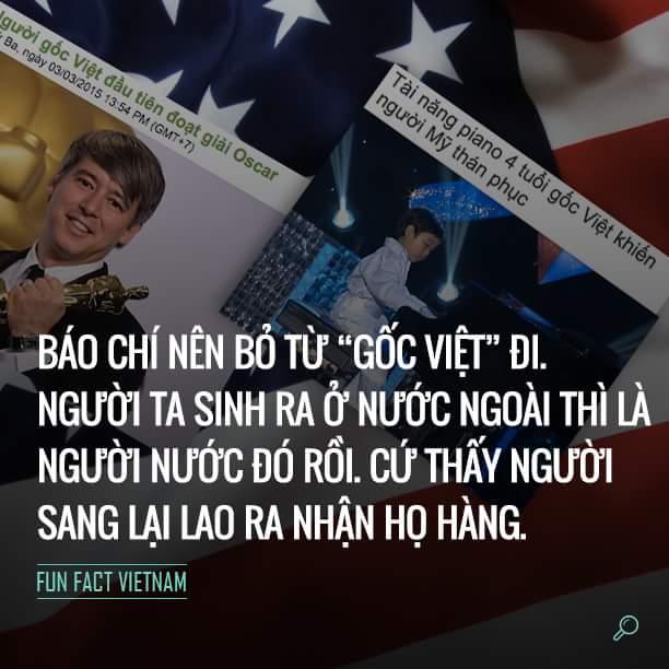 Báo chí nên từ bỏ từ gốc Việt đi. Người ta sinh ra ở nước ngoài thì là người nước đó rồi. CỨ...