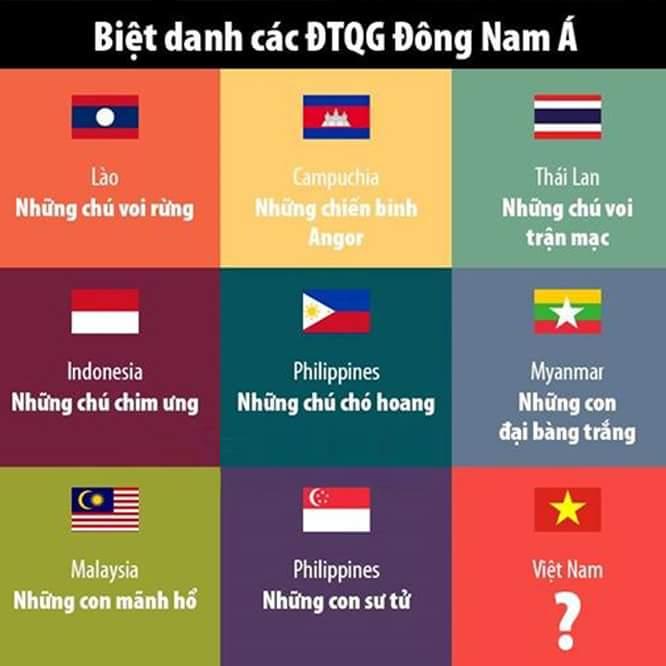 Biệt danh của Việt Nam là gì hả các bác? :v  - cám ơn bạn Tùng Trần đã gửi ảnh trong group TBĐ...