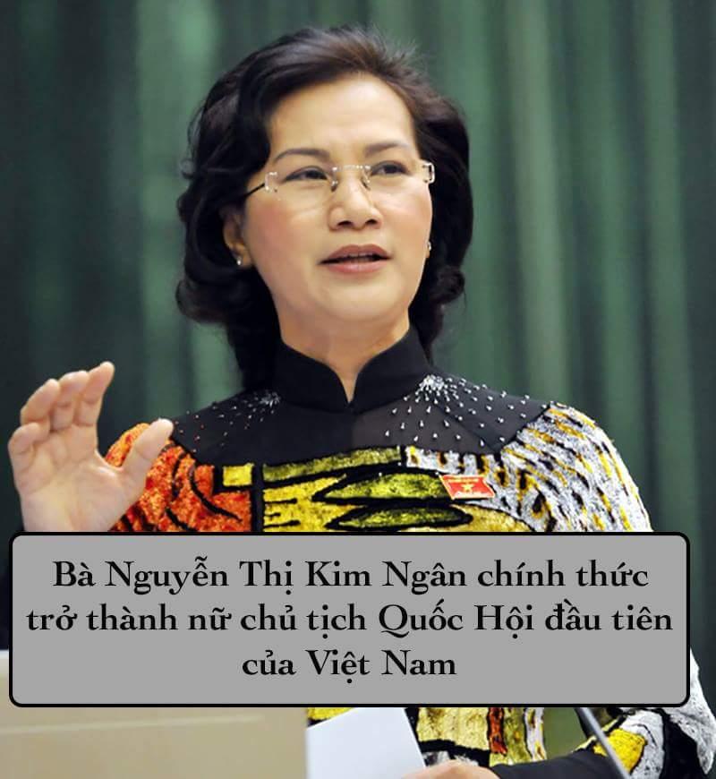 Lần đầu tiên trong lịch sử Quốc Hội nước ta có nữ chủ tịch Chúc mừng tân chủ tịch bà Nguyễn...