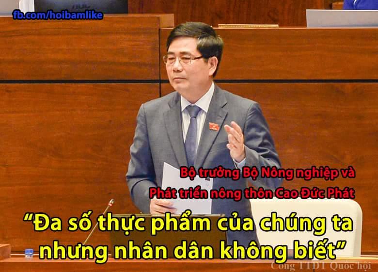 Bạn nghĩ sao về câu nói này của Bộ trưởng ? :)  #hoibamlike #botruong #thucpham #thucphamsach...