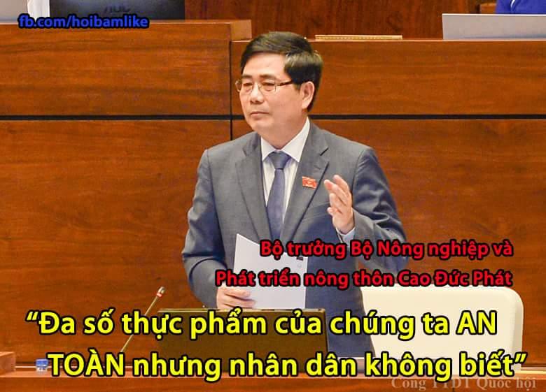 Bạn nghĩ sao về câu nói này của Bộ trưởng ? :v  #hoibamlike #botruong #thucpham #thucphamsach...