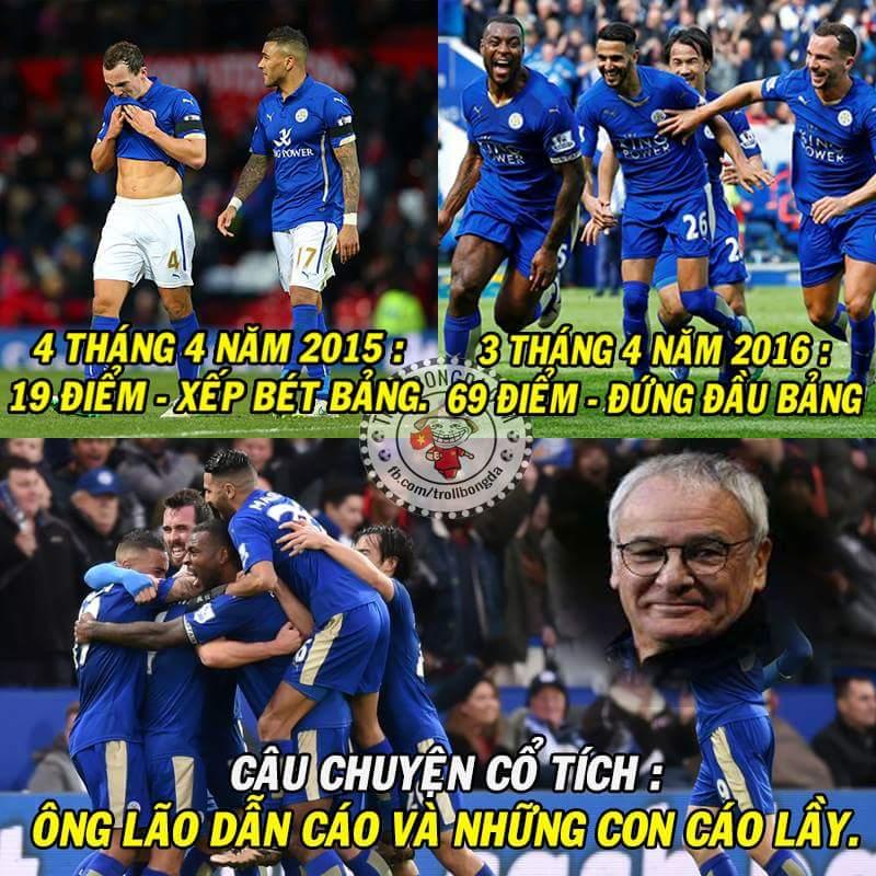 Leicester mà không vô địch mùa này thì chẳng khác nào một câu chuyện cổ tích mà kết thúc không...