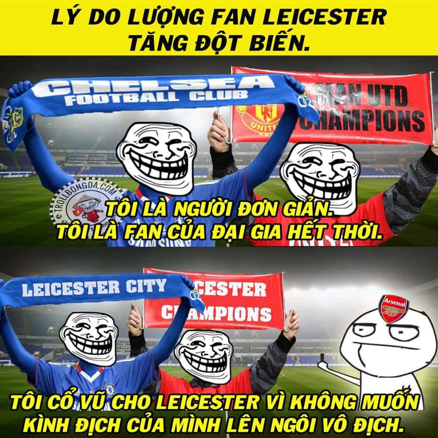 Logo Leicester tràn ngập khắp mọi nơi. =))) :v  #Leicester