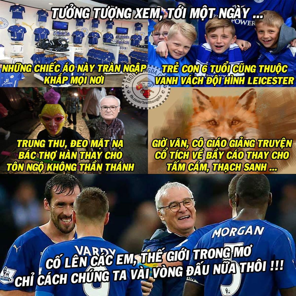 Tự hào là fan Leicester suốt 10 năm .... ẩn trong vỏ bọc fan đại gia khác. :v ...