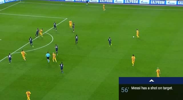 Các bạn hãy tưởng tượng thế trận bây giờ Barca như chiếc máy ép còn Atletico là những khúc mía...