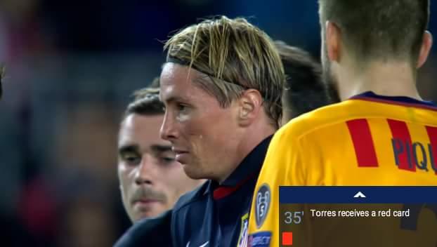 ôi má ơi Torres thẻ đỏ rời sân luôn rồi :))))) ko hiểu chuyện gì