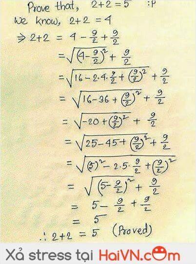 Tại sao 2+2=5 được nhỉ