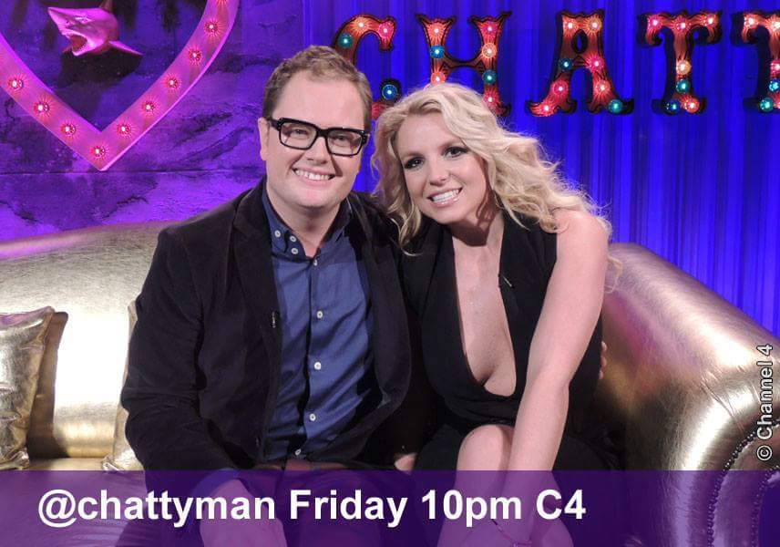 Britney Spears på Alan Carr: Chatty Man showet! Programmet blir sendt ikveld på Channel 4 i Storbritannia. Det blir sendt på BBC Enter tirsdag 29.oktober i Norge.