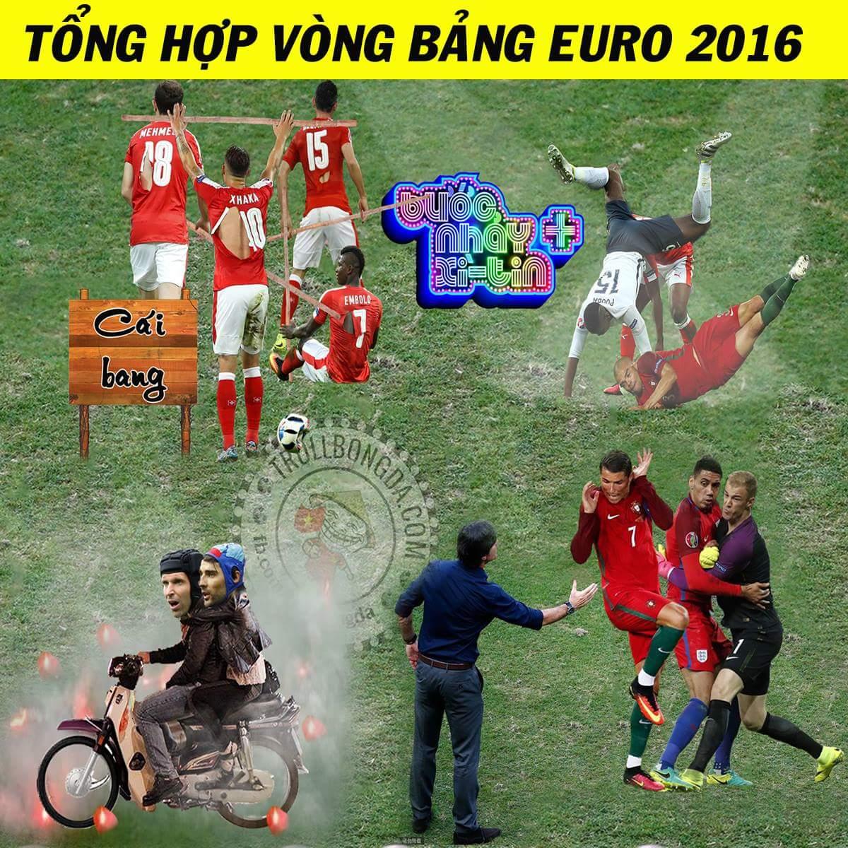 Những khoảnh khắc bá đạo nhất vòng bảng Euro 2016. :v Còn gì nữa không nhỉ? :)) ...