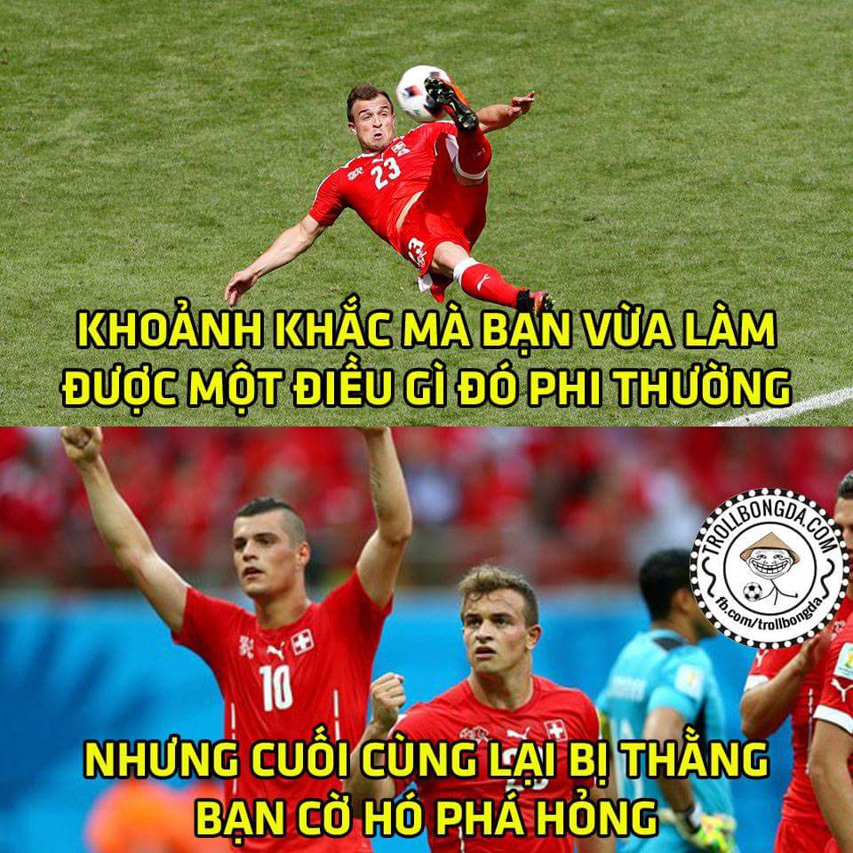 FT: Ba Lan 1-1 Thụy Sĩ và Ba Lan thắng 5-4 trong loạt penalty. Siêu phẩm của Shaqiri rất đẹp...
