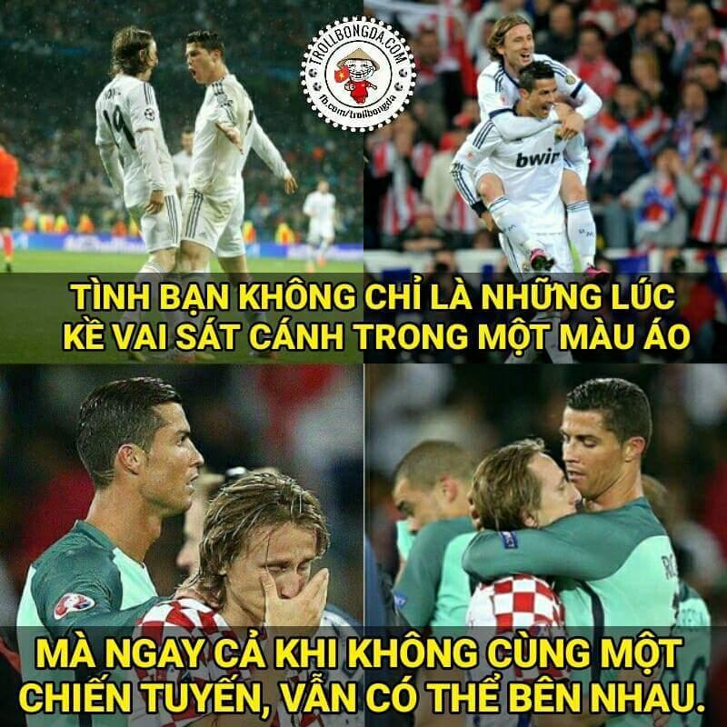 Ronaldo là người ĐẦU TIÊN tới an ủi Modric trên sân. #respect  - Thu Thảo