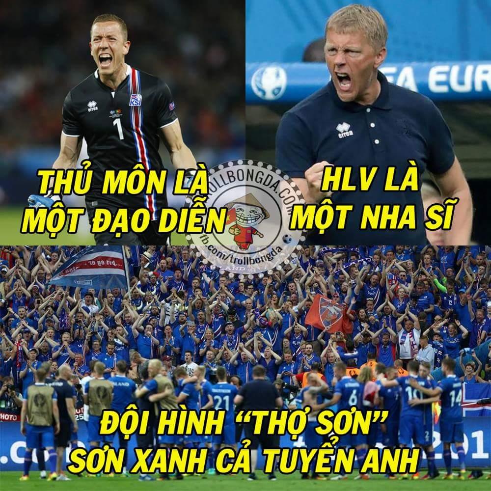 Hết giờ!!!!! Anh 1-2 Iceland Truyện cổ tích của những chàng Sơn tinh. :v Tuyệt vời...